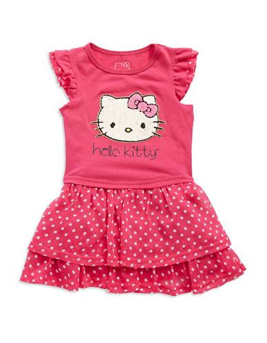HELLO KITTYGirls 2-6x Tiered Hello Kitty Dress