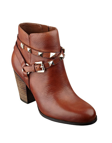 GUESSFran Studded Leather Ankle Boots