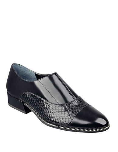 MARC FISHER LTD Idris Snake Leather Loafers