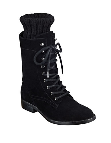 Buy Galina Suede Combat Boots by Marc Fisher Ltd online