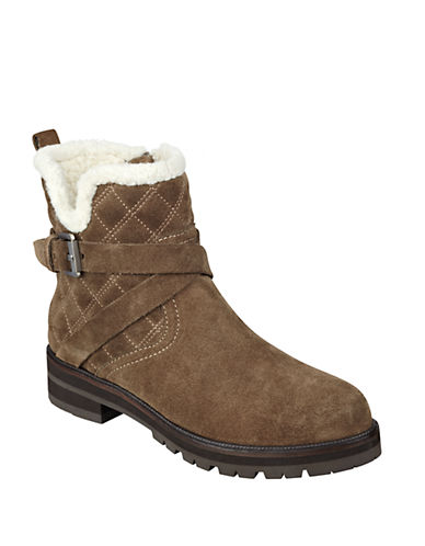 MARC FISHER LTDNasha Quilted Leather and Faux Fur Boots