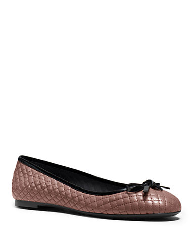 MICHAEL MICHAEL KORS Melody Quilted Leather Ballet Flats