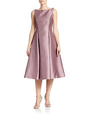 Tea Length Fit And Flare Dress