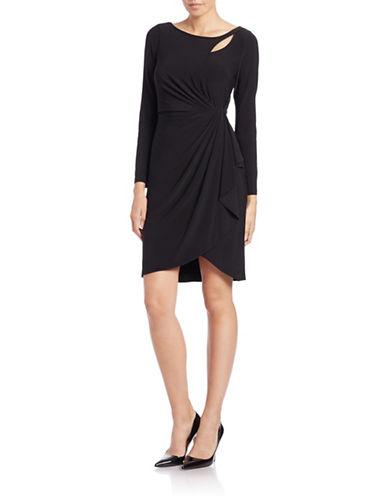 ADRIANNA PAPELLKeyhole Drape Jersey Sheath Dress