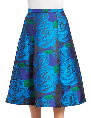 Adrianna Papell Floral Jaquard Skirt