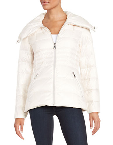 karl lagerfeld paris female 45883 fitted puffer jacket