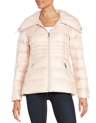 karl lagerfeld paris female  fitted puffer jacket
