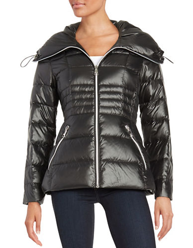 karl lagerfeld paris female 188971 fitted puffer jacket