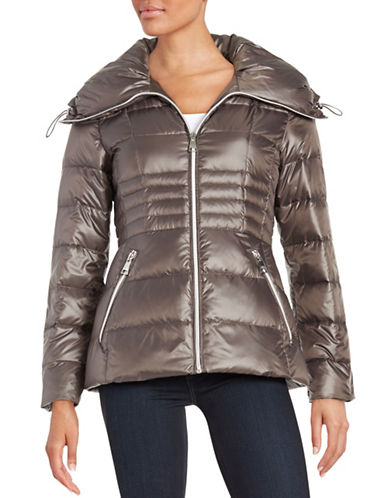karl lagerfeld paris female 45906 fitted puffer jacket