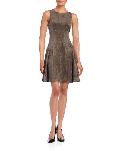 Ivanka Trump Sleeveless Faux Suede Dress