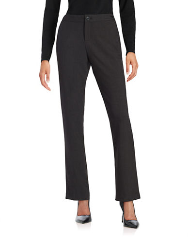 IVANKA TRUMP Charcoal Straight-Leg Pants
