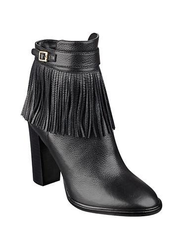 Buy Preta Fringed Leather Ankle Booties by Ivanka Trump online