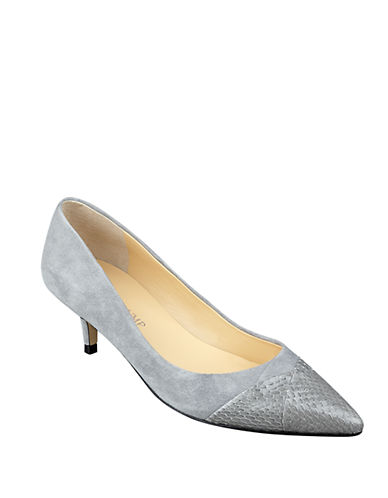 Buy Warden Leather Kitten Pumps by Ivanka Trump online