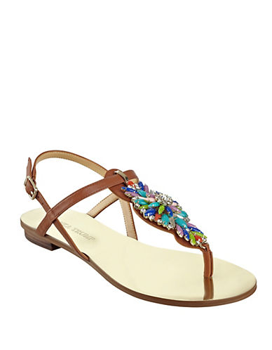 Buy Fyona Leather Thong Sandals by Ivanka Trump online