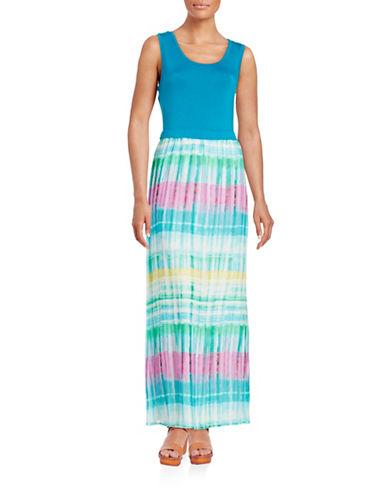 Plus Mixed-Media Maxi Dress plus size,  plus size fashion plus size appare