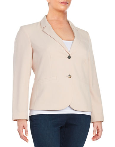 Plus One-Button Knit Blazer plus size,  plus size fashion plus size appare