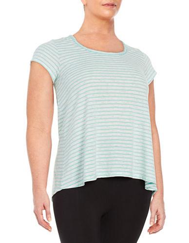 Striped Cutout Tee plus size,  plus size fashion plus size appare