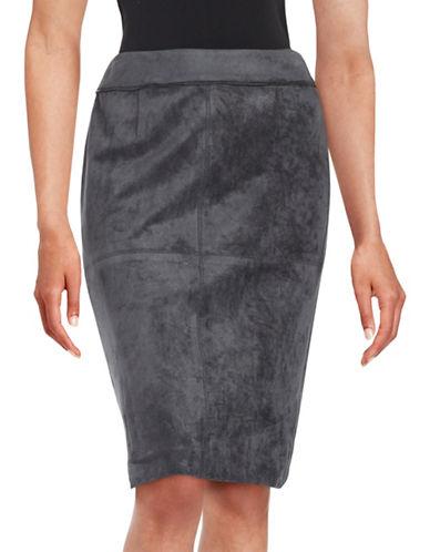 Calvin Klein Faux Suede Pencil Skirt