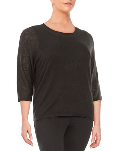 Plus Textured Knit Dolman Sweater plus size,  plus size fashion plus size appare