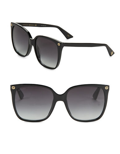 gucci female 57mm square sunglasses