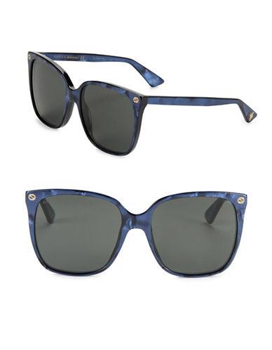gucci female 57mm square sunglasses