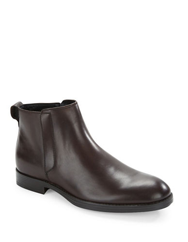 Calvin Klein Hartley Leather Ankle Boots