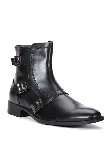 CALVIN KLEIN Stark Leather Monkstrap Ankle Boots