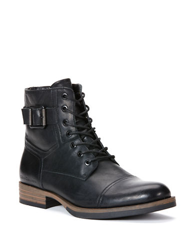 CALVIN KLEIN Roberts Leather Lace-Up Boots