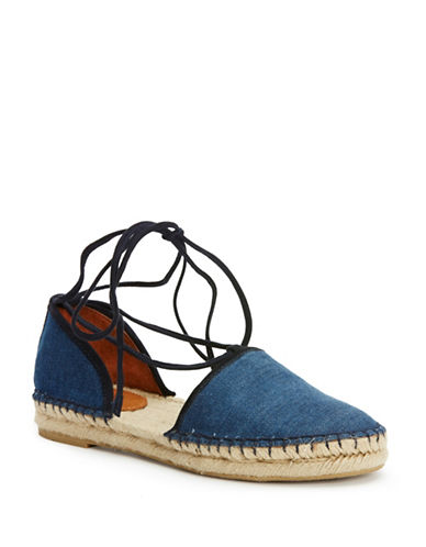 Buy Leo Two-Piece Leather Espadrille Sandals by Frye online