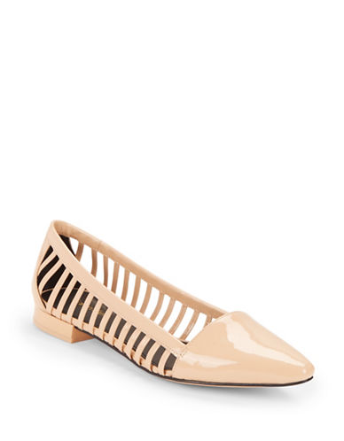 Buy Elouise Faux Leather Flats by Calvin Klein online