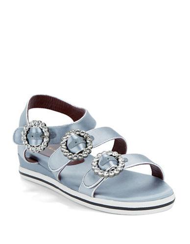 marc jacobs female strappy flatform sandals