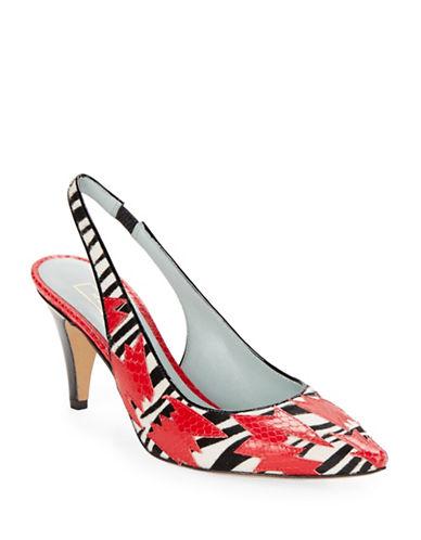 marc jacobs female 250960 sharon animal print calf hair pumps