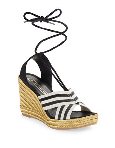 marc jacobs female 188971 laceup espadrille wedge sandals