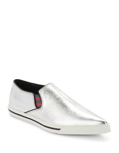 marc jacobs female 45900 delancey metallic slip on sneakers