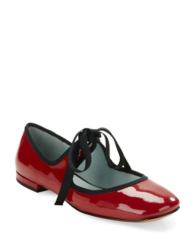 marc jacobs female lisa mary jane patent leather ballet flats