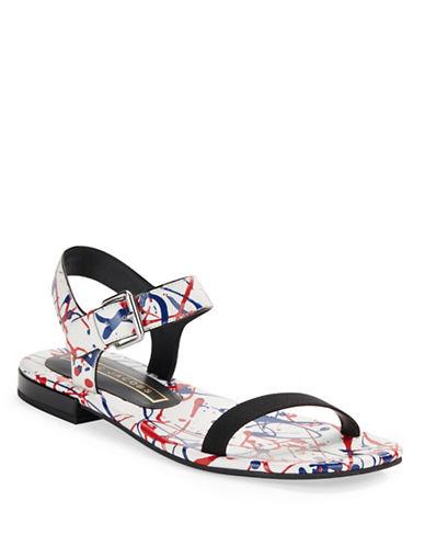 marc jacobs female 45883 elizabeth splatter leather sandals