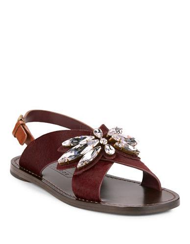 marc jacobs female 215965 essex calf hair sandals
