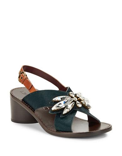 marc jacobs female 227429 madsion calf hair statement sandals