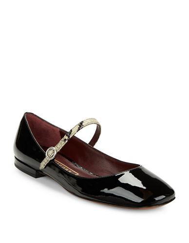 marc jacobs female 188971 park mary jane patent leather flats