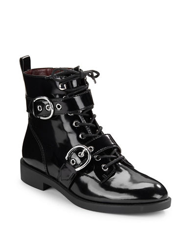 marc jacobs female 188971 taylor patent leather buckle boots
