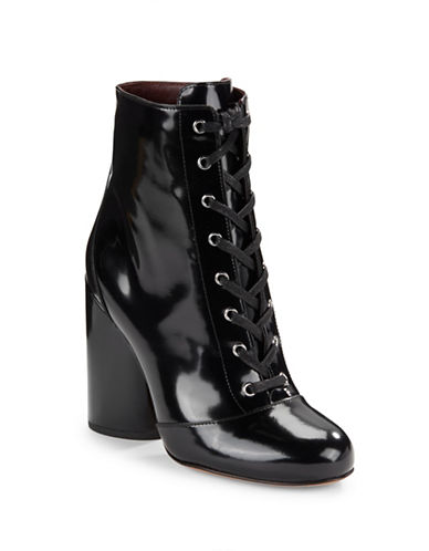 marc jacobs female 188971 tori patent leather ankle boots
