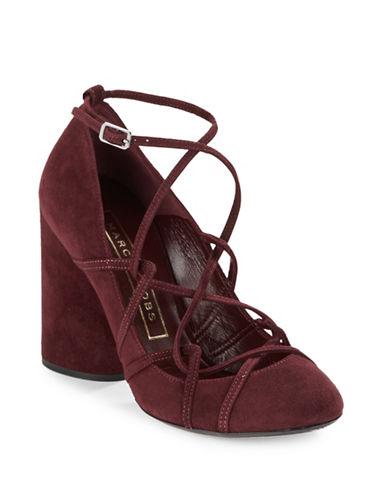 marc jacobs female  carrie suede crisscross high heels