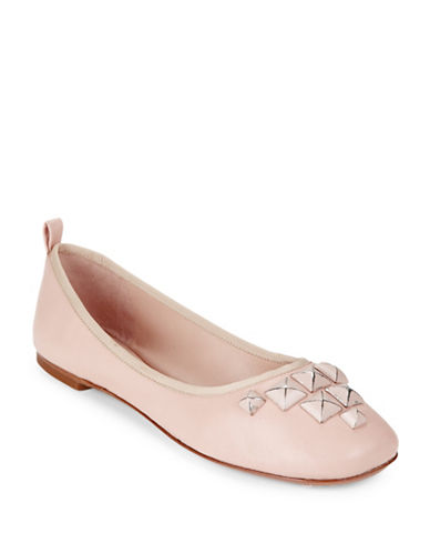 marc jacobs female cleo studded leather ballet flats