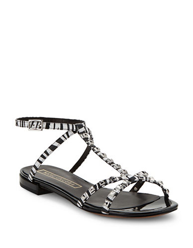 marc jacobs female ana leather studded sandals