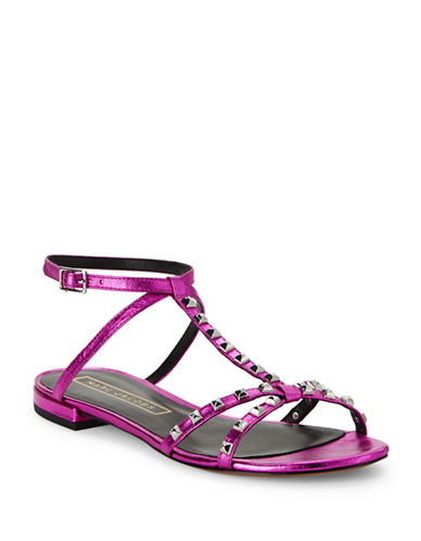 marc jacobs female ana studded metallic leather sandals