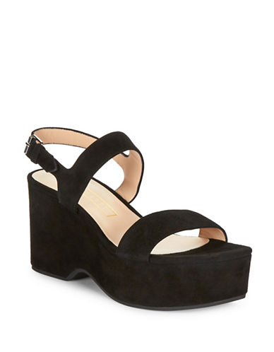 marc jacobs female lily suede platform wedges