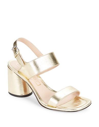 marc jacobs female emilie leather sandal heels