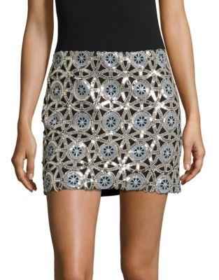Medallion Sequin Mini Skirt