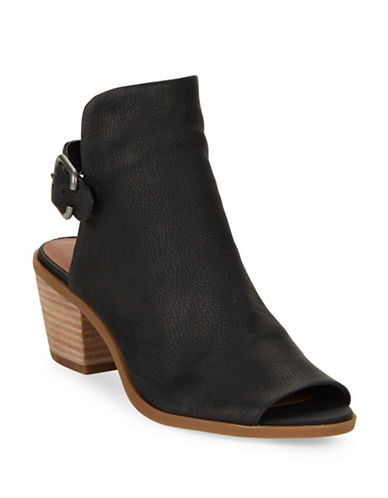 Buy Bray Leather Peep Toe Ankle Boots by Lucky Brand online