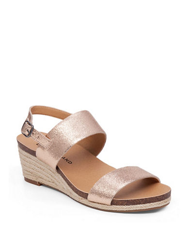 Buy Jette Espadrille Platform Wedge Leather Sandals by Lucky Brand online